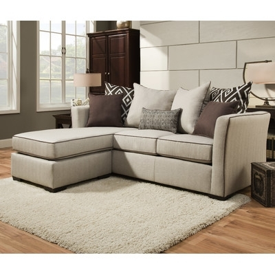 Latitude Run Araceli Simmons Sectional & Reviews | Wayfair Within Simmons Sectional Sofas (Image 2 of 10)