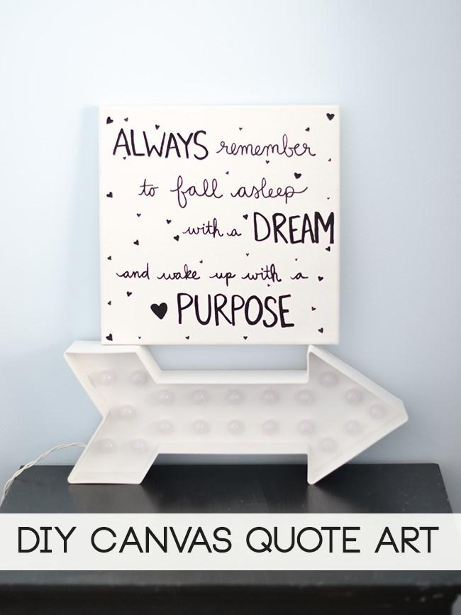 Laura Rahel: Diy Canvas Wall Art Quote Inside Love Quotes Canvas Wall Art (View 16 of 20)
