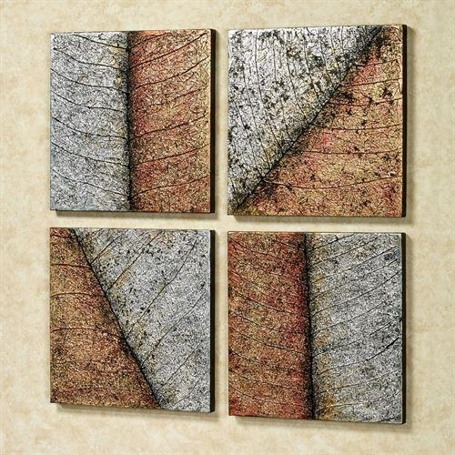Lavish Leaves Canvas Wall Art Set With Regard To Leaves Canvas Wall Art (Image 7 of 20)
