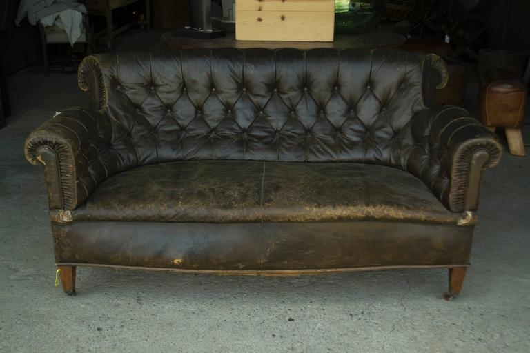 Leather Chesterfield Sofa For Sale At 1Stdibs Regarding Vintage Sofas (Image 4 of 10)