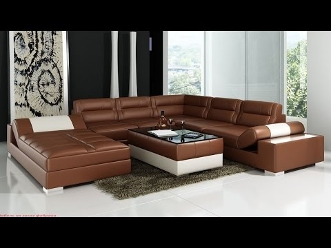 Leather Corner Sofas | Corner Sofas Leather – Youtube Regarding Leather Corner Sofas (Image 4 of 10)