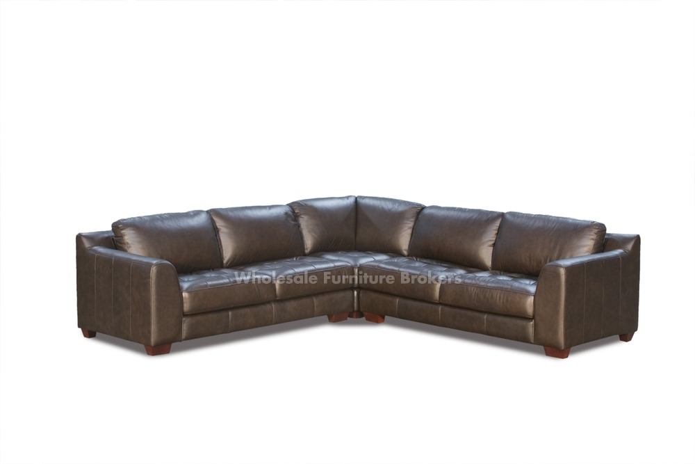 Leather L Shaped Sectional Sofa – Home Design Inside Leather L Shaped Sectional Sofas (Image 6 of 10)