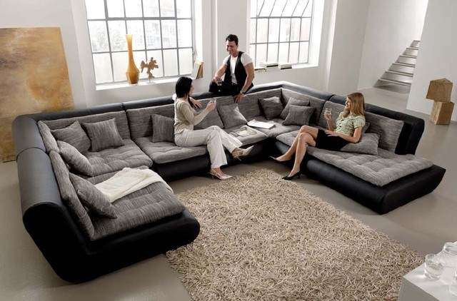 Leather Modular Sectional Sofa Centerfieldbar Sectional Sofas With Leather Modular Sectional Sofas (Image 6 of 10)