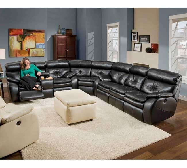 Featured Image of Leather Motion Sectional Sofas