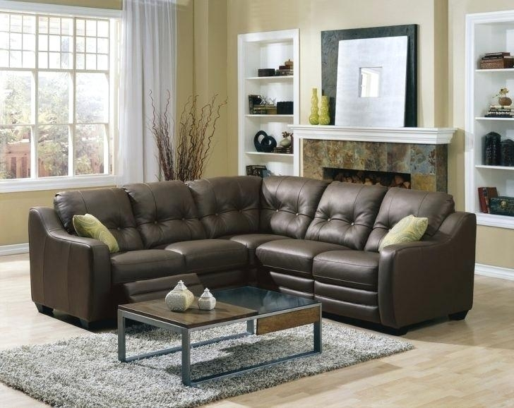 Leather Recliner Sectional Brown Leather Reclining Sectional Sofa Intended For Leather Recliner Sectional Sofas (View 8 of 10)