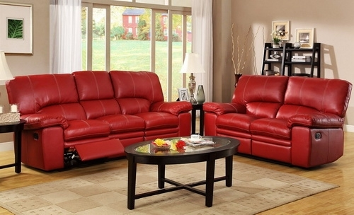 Leather Recliner Sofa Red Color – Leather Recliner Sofa | Sofa Bed Pertaining To Red Leather Reclining Sofas And Loveseats (View 5 of 10)