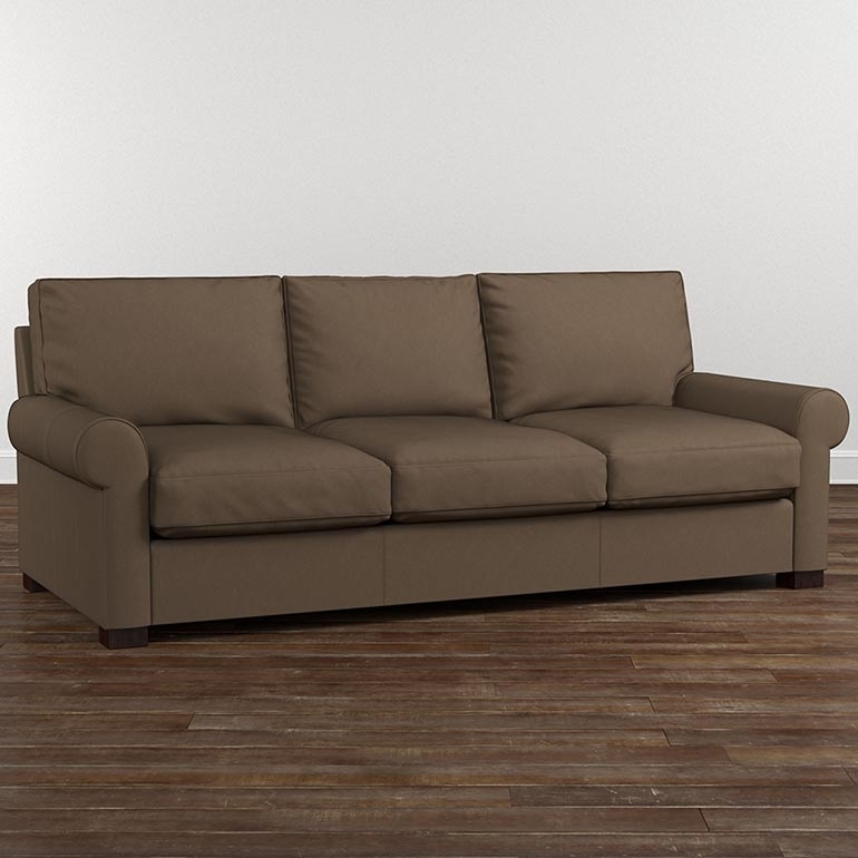 Leather Scarborough Tan Sofa With Scarborough Sectional Sofas (Image 2 of 10)
