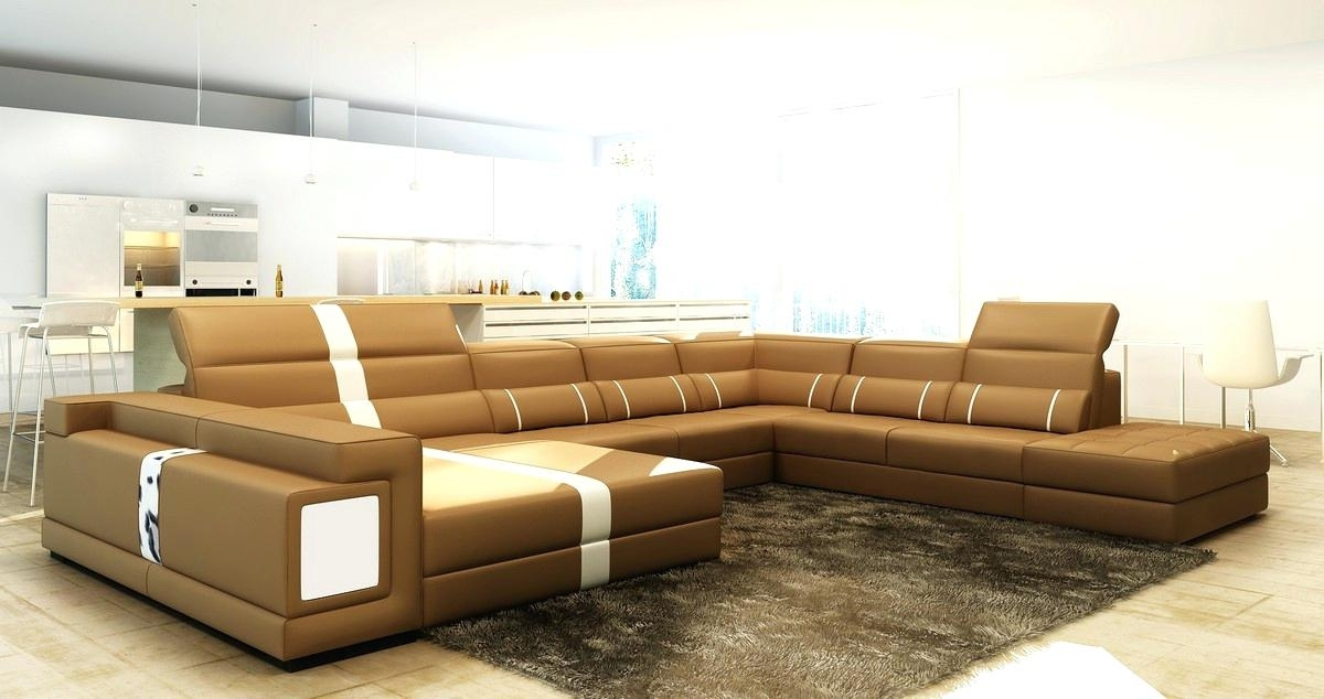 Leather Sectional Sofas Chocolate Brown Leather Sectional Sofa Within Memphis Tn Sectional Sofas (View 8 of 10)