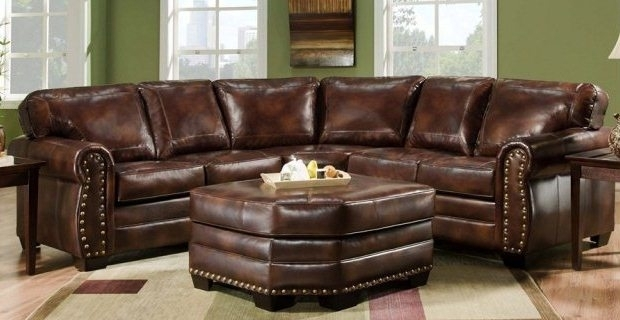 Leather Sectional Sofas To Enrich Any Room | Exist Decor Regarding Leather Sectional Sofas With Ottoman (Image 6 of 10)