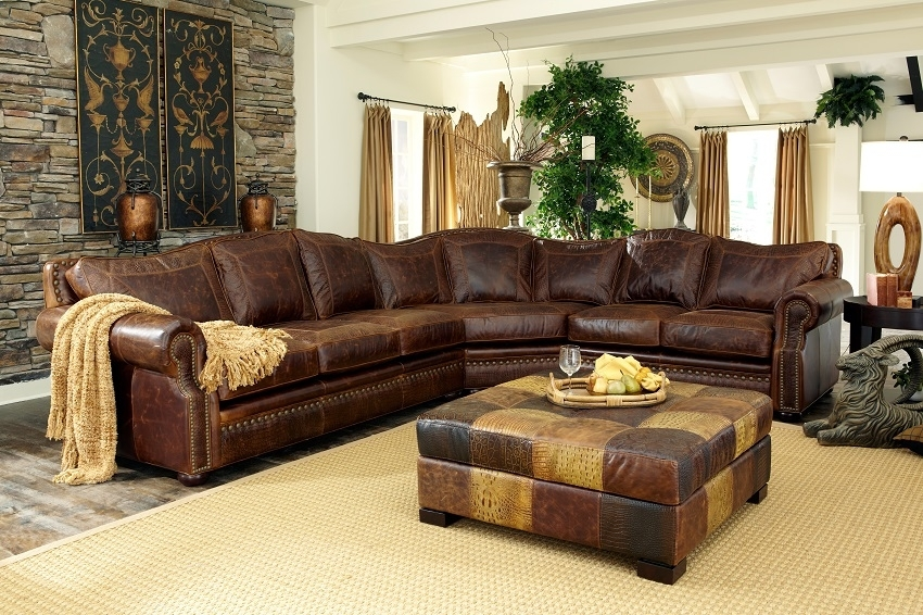 Leather Sectional Sofas : Tucson Leather Sectional With Regard To Tucson Sectional Sofas (Image 1 of 10)