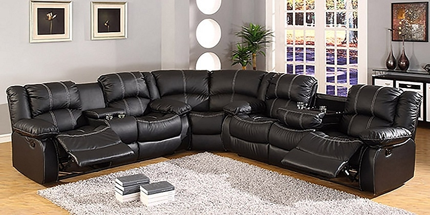 Leather Sectional Sofas With Recliners And Cup Holders 2018 Couch In Sectional Sofas With Cup Holders (Image 5 of 10)