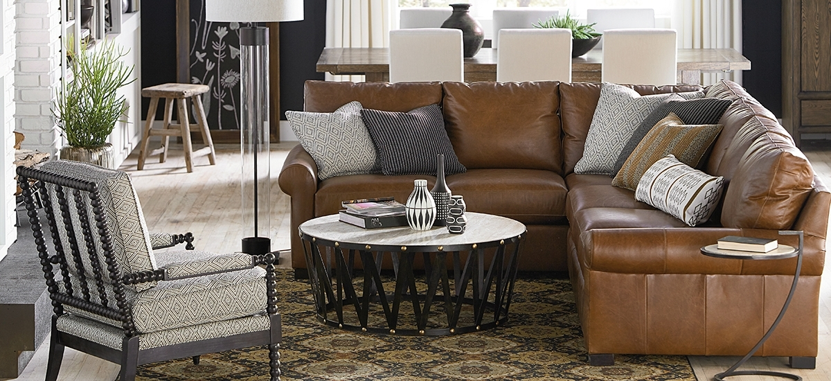 Leather Sectionals Inside Scarborough Sectional Sofas (Image 3 of 10)