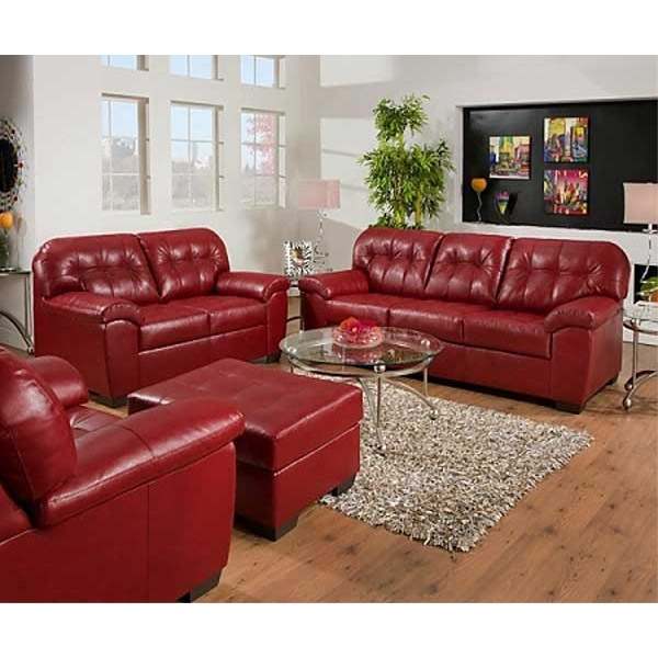 Leather Sofa Loveseat | Facil Furniture Within Red Leather Couches And Loveseats (Image 7 of 10)