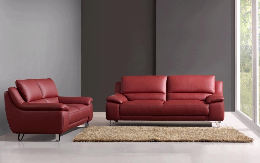 Leather Sofas And Loveseats And Elimination F White Leather Sofa And For Red Leather Couches And Loveseats (Image 8 of 10)