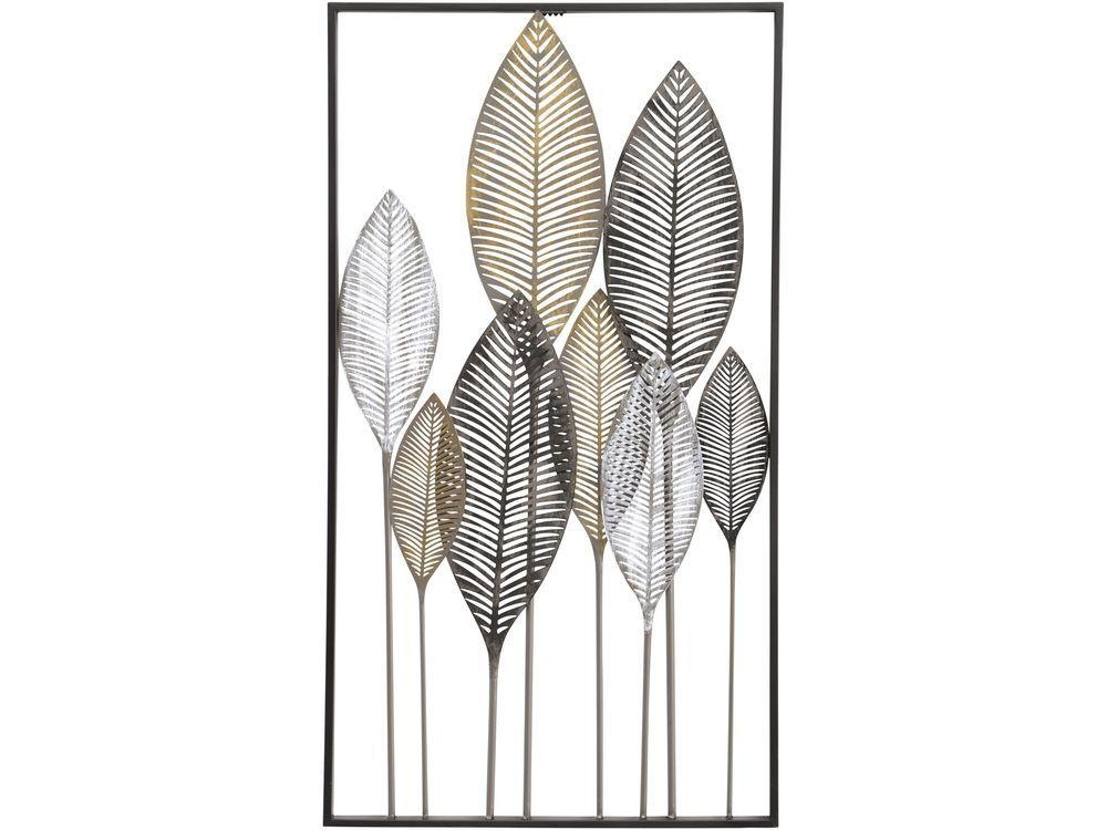 Topic Leaves Abstract Panel Metal Wall Art