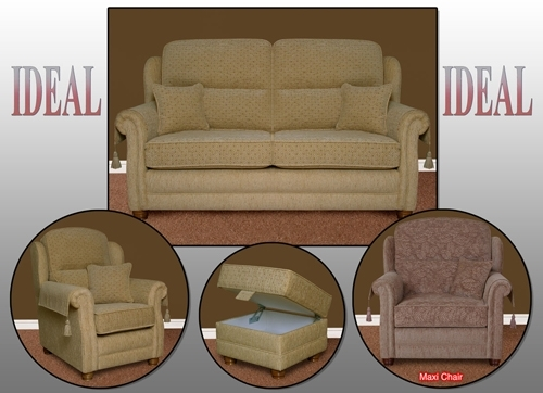 Leominster 3 Piece Suites – Ideal Collection Intended For Stratford Sofas (Image 2 of 10)