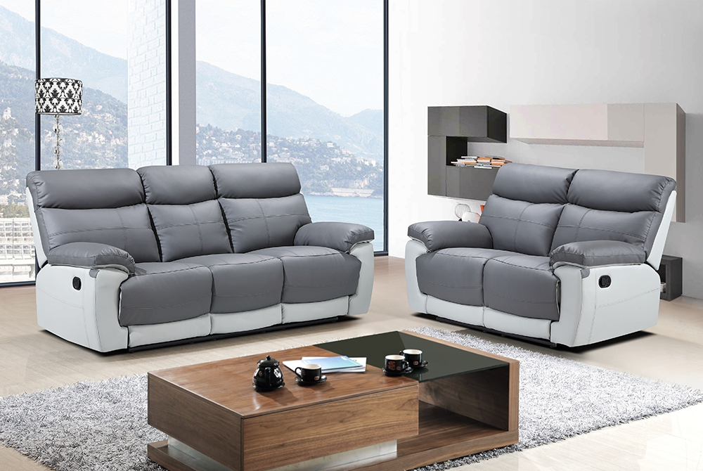 Lexi 2 Seater Recliner Sofa – Grey – We Do Sofas Inside 2 Seat Recliner Sofas (Image 5 of 10)