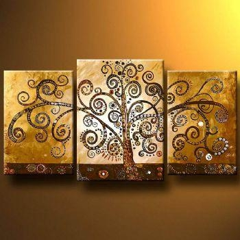 Life Tree Modern Canvas Art Wall Decor Abstract Oil Painting Wall Throughout Canvas Wall Art Of Trees (View 16 of 20)