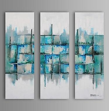 Light Color Pieces Modern Abstract Oil Painting Wall Art With In Light Abstract Wall Art (Image 12 of 20)