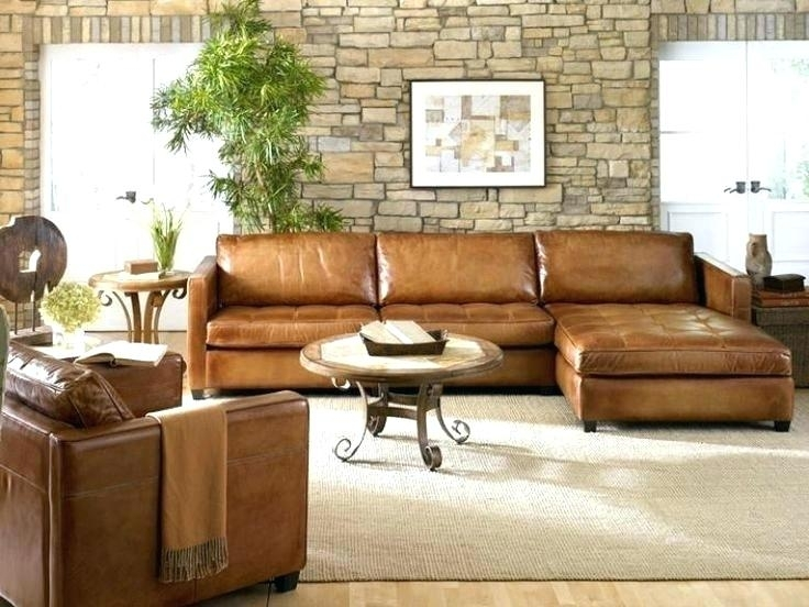 Light Colored Leather Sofa – Getanyjob.co Intended For Camel Colored Sectional Sofas (Photo 4 of 10)