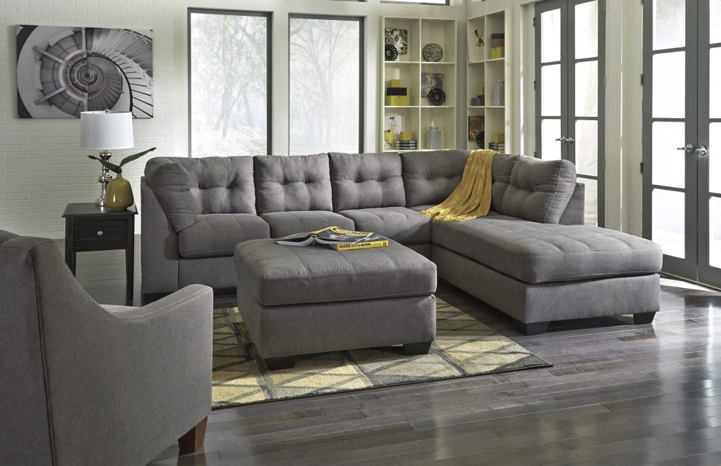Light Gray Sectional Sofa Divani Casa Jasper Modern Grey Leather Within Quebec Sectional Sofas (Image 8 of 10)