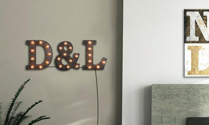Light Up Wall Art Light Up Pictures Free Shipping Wall Art With With Regard To Letters Canvas Wall Art (Image 14 of 20)