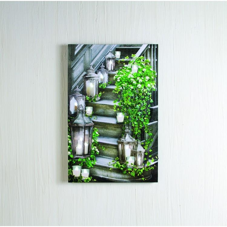 Lighted Canvas Pictures – Christmas Tree Hill Within Lighted Canvas Wall Art (View 4 of 20)