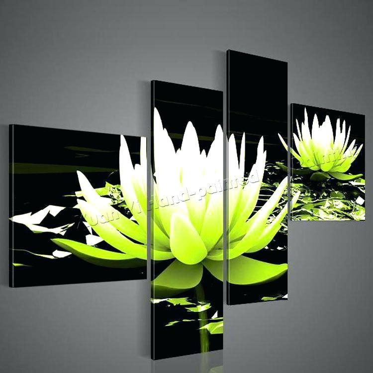 Lime Green Paintings Abstract Art Canvas Painting Lime Green Black In Lime Green Abstract Wall Art (Image 13 of 20)