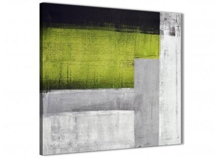 Lime Green Purple Abstract Painting Canvas Wall Art Print – Modern For Lime Green Canvas Wall Art (Image 11 of 20)