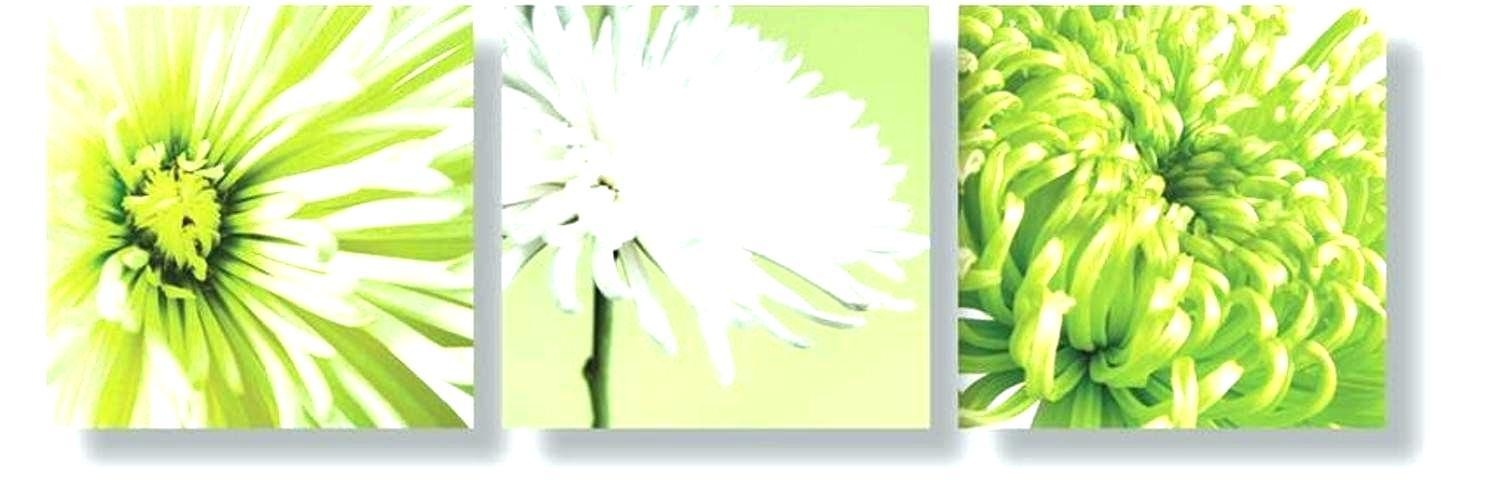 Lime Green Wall Art 3 Abstract Canvas Painting White Lime Green Regarding Lime Green Abstract Wall Art (Image 15 of 20)