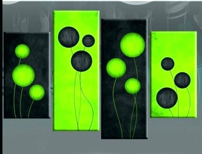 Lime Green Wall Art Lime Green Grey Abstract Painting Canvas Wall With Lime Green Abstract Wall Art (Image 17 of 20)