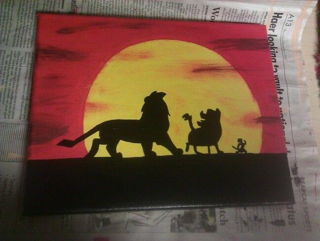 Lion King Canvas | Things I've Made | Pinterest | Lions, Canvases Regarding Lion King Canvas Wall Art (Image 12 of 20)