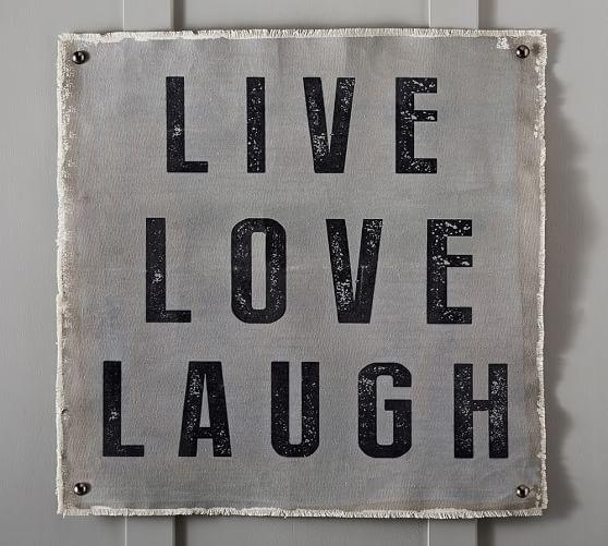 Live, Laugh, Love Canvas Wall Art | Pottery Barn Intended For Live Laugh Love Canvas Wall Art (Image 12 of 20)