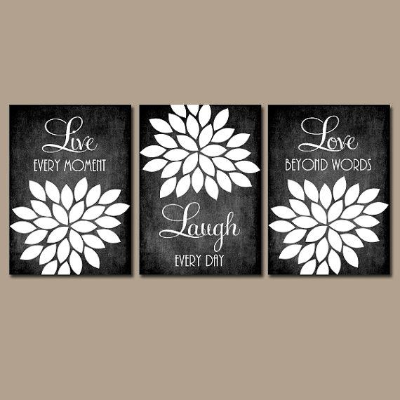 Live Laugh Love Wall Art Chalkboard Quote Kitchen Wall Art Intended For Live Laugh Love Canvas Wall Art (View 13 of 20)