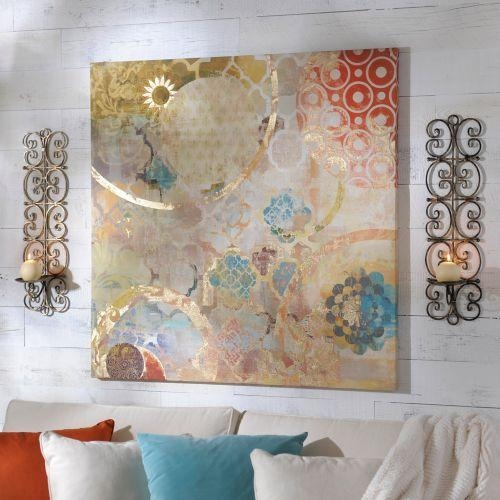 Living Room Colors Love This One!!! Festival Canvas Art Print In Kirklands Canvas Wall Art (Image 12 of 20)