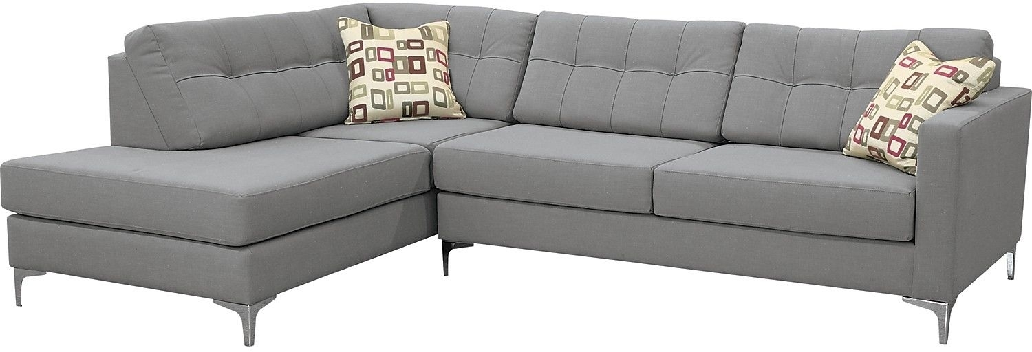 Living Room Furniture – Ivy Polyester Left Facing Sectional With With Regard To The Brick Sectional Sofas (Photo 5 of 10)