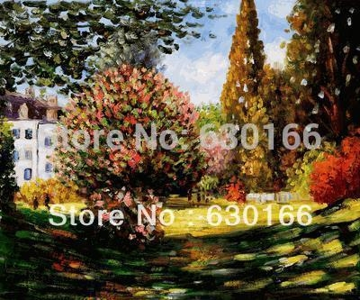 Living Room Home Decoration Painting, Il Parco Monceauclaude With Monet Canvas Wall Art (Image 10 of 20)