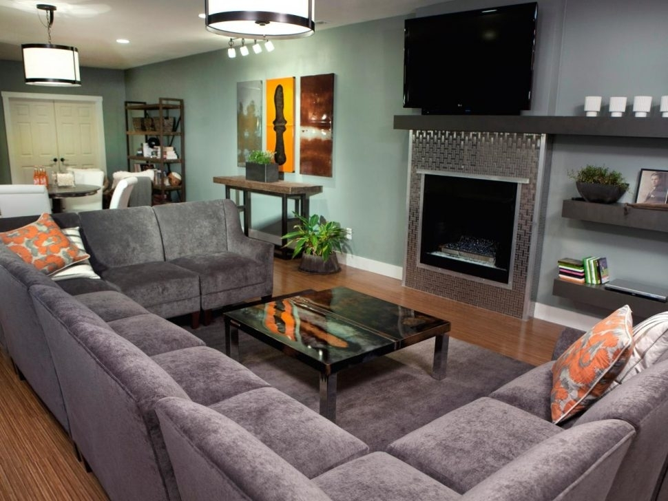 Living Room : Large Gray U Shaped Sectional Couch Facing Stainless Within Gray U Shaped Sectionals (Image 4 of 10)