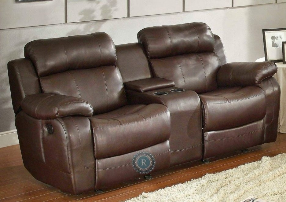 Living Room Reclining Sofas With Consoles Dual Sofa Center Inside With Sofas With Consoles (Image 6 of 10)