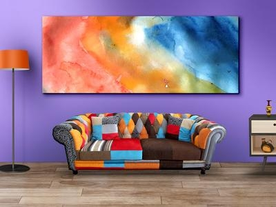 Living Room Wall Art Mockupgraphicsfuel (Rafi) – Dribbble Inside Mockup Canvas Wall Art (Image 17 of 20)