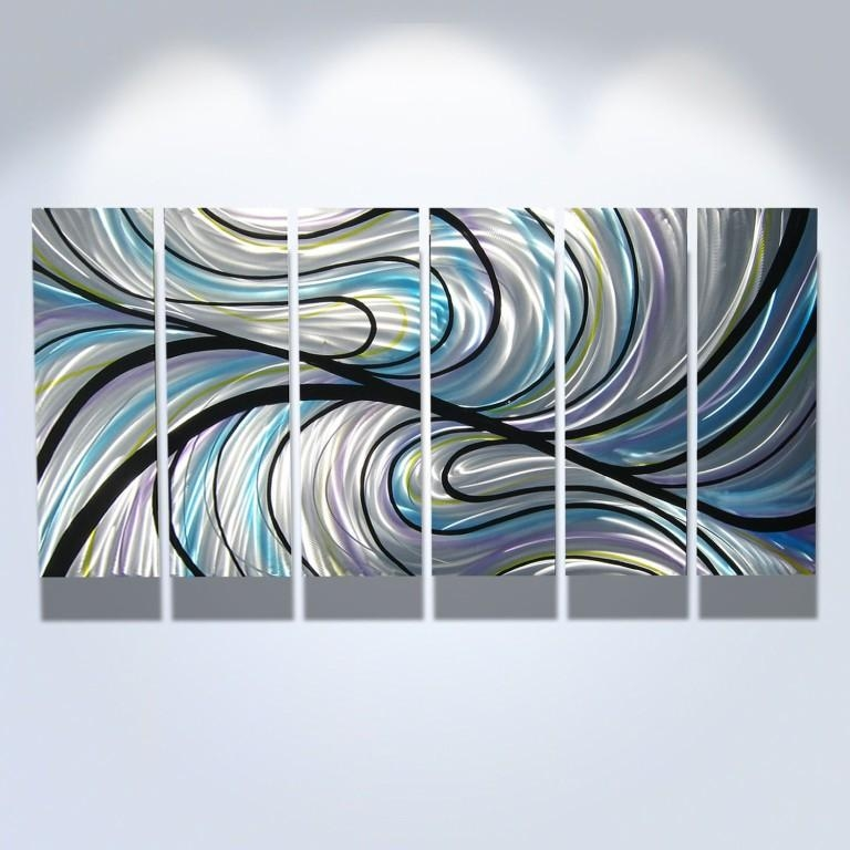 Living Room : Wonderful Large Abstract Metal Wall Art Sculpture Throughout Kingdom Abstract Metal Wall Art (Image 4 of 20)