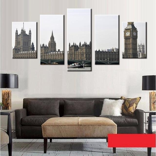 London Big Ben Picture Canvas Prints Cityscape Black And White In Black And White Photography Canvas Wall Art (View 20 of 20)
