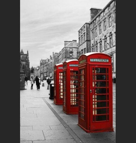 London Wall Art Canvas Print – Red Telephone Booths – Home Photo Regarding Canvas Wall Art Of London (View 18 of 20)