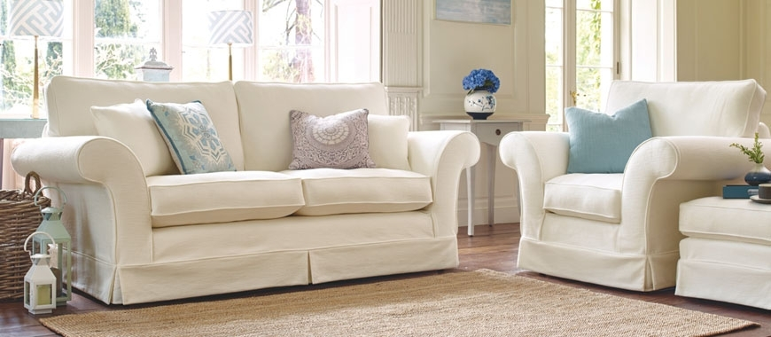 Loose Cover Sofas | Mashine Washable Slipcovers | Kirkdale Within Traditional Fabric Sofas (Image 5 of 10)