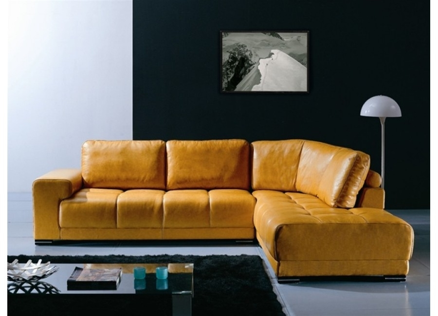 Loren – Modern Gold Leather Sectional Sofa | Furniture, Interior Pertaining To Gold Sectional Sofas (Photo 1 of 10)
