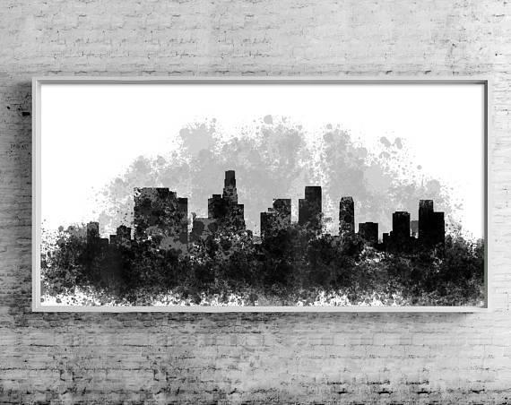 Los Angeles Canvas Wall Art Los Angeles Cityscape Canvas With Los Angeles Canvas Wall Art (Image 18 of 20)