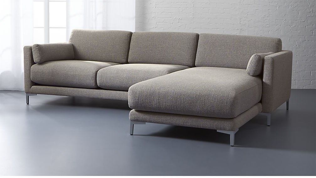 Lounge Ii 2 Piece Sectional Sofa Crate And Barrel For Architecture 5 With 2 Seat Sectional Sofas (Image 4 of 10)
