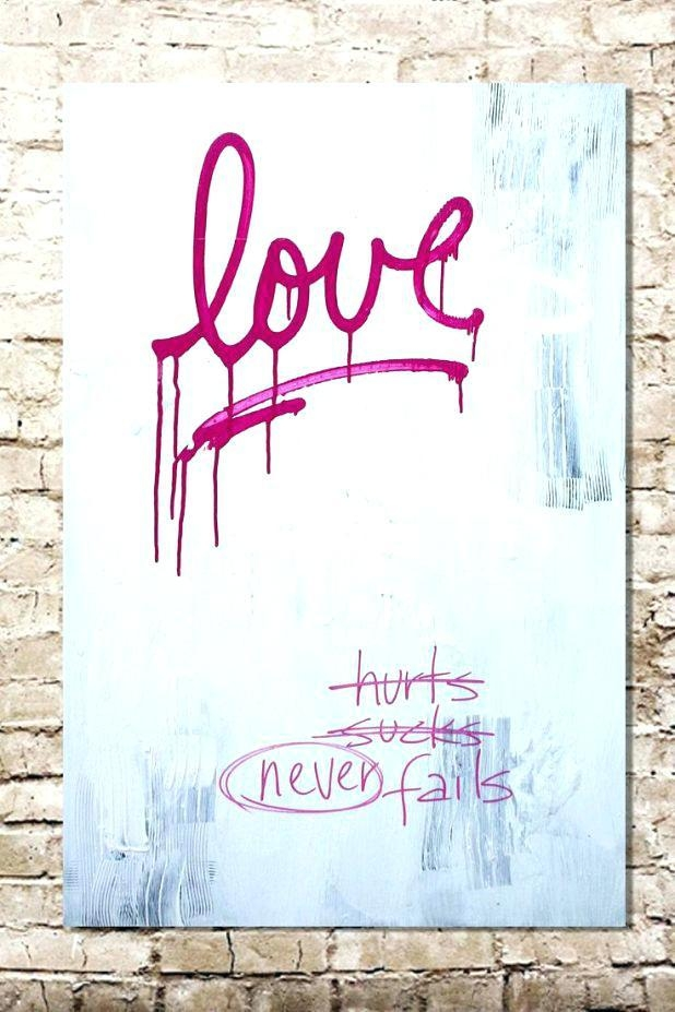 Love Canvas Wall Art Love State Wall Art White On Black Canvas Inside Live Laugh Love Canvas Wall Art (View 15 of 20)