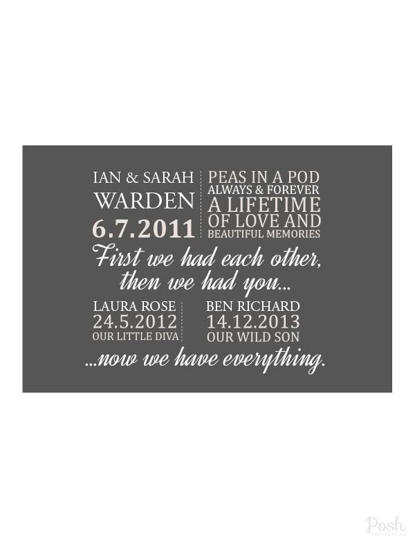 Love & Family Canvas Prints – Posh Canvas With House Of Fraser Canvas Wall Art (Image 14 of 20)