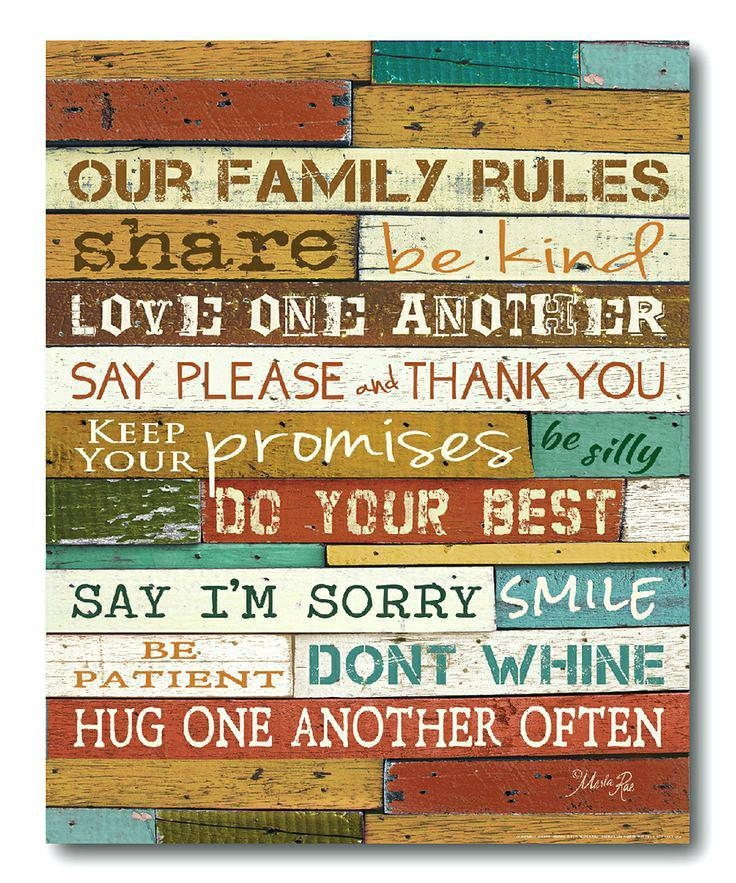 Love Rules Wall Art Market Family Wrapped Canvas Family Rules Love Inside Canvas Wall Art Family Rules (Image 11 of 20)